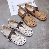 復古娃娃鞋森系鏤空透氣奶奶鞋軟妹沙灘鞋女 黛尼時尚精品