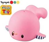 *babygo*樂雅Toyroyal 軟膠小鯨魚洗澡玩具