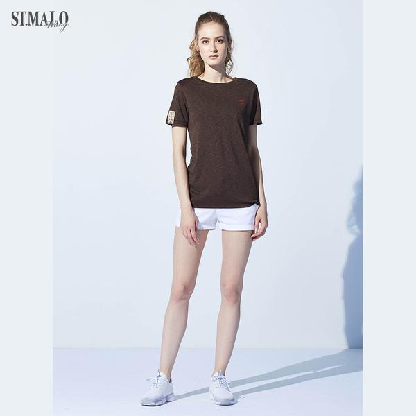 【ST.MALO】台灣製品牌原創抑菌吸排女T恤-1925WT-棕色