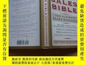 二手書博民逛書店THE罕見SALES BIBLE JEFFREYH.GITOMERY2931 THE SALES BIBLE