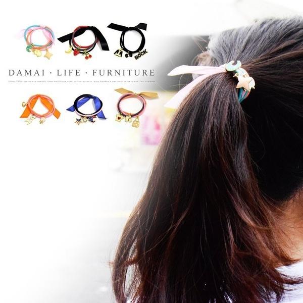 ✿現貨 快速出貨✿【小麥購物】韓版 緞帶髮圈 髮飾 橡皮圈 綁頭髮橡皮筋 髮繩【D016】