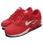 Nike 休閒慢跑鞋 Wmns Air Max 90 紅 白 氣墊 基本款 女鞋 運動鞋【PUMP306】 325213-612