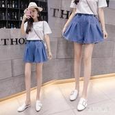 5XL牛仔短褲女 2020夏季新款韓版時尚百搭高腰寬鬆學生a字裙褲 TR580『寶貝兒童裝』