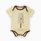 棉感印花冰棒短袖包屁衣 連身衣 爬爬服 嬰兒裝 哈衣