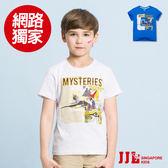 網路獨家-JJLKIDS 男童 探索埃及圓領純棉短袖上衣T恤(2色)