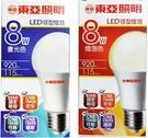東亞LED8W-白光/黃光