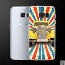 ♥ 俏魔女美人館 ♥Samsung Galaxy S7 Edge {黃色汽車*輕立體浮雕硬殼} 手機殼 手機套 保護殼
