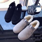 雪地靴男冬季保暖加絨加厚面包鞋低筒套腳防滑防水棉鞋子【左岸男裝】