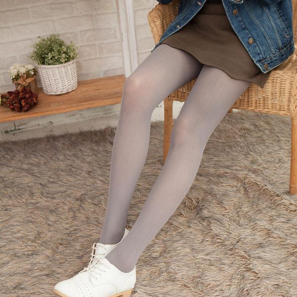 80D一體式無縫提臀立體條紋啞光褲襪(深灰)