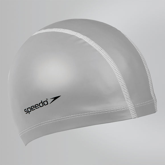 【線上體育】SPEEDO 成人 合成泳帽 Pace 銀