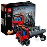 樂高積木樂高機械組42084吊鉤式裝載卡車LEGOTechnic積木玩具xw