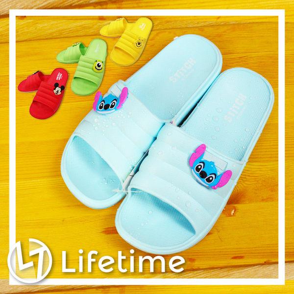 〖LifeTime〗﹝迪士尼泡芙加厚拖鞋﹞正版浴室拖鞋 室內外拖鞋 米奇 史迪奇 維尼 B21637