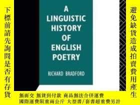 二手書博民逛書店A罕見Linguistic History Of English Poetry (interface)Y255