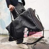 皮質旅行袋 男女款商務手提旅行包大容量旅行袋 皮質防水行李出差包