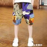 男童短褲外穿純棉寬鬆新款夏季薄款兒童褲子五分褲潮中大童裝 雙十二全館免運