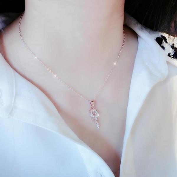 情享天鵝幸運項鍊女短款鎖骨鍊吊墜玫瑰金日韓簡約飾品簡約項鍊女