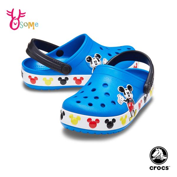 Crocs卡駱馳童鞋 男童洞洞鞋 米奇布希鞋 智必星 園丁鞋 防水布希鞋 涼拖鞋 迪士尼 A1775#藍色