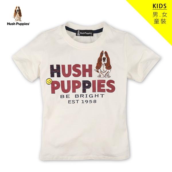 Hush Puppies T恤 童裝經典刺繡狗T恤