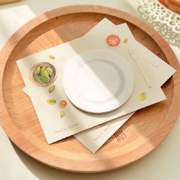 圓形咖啡杯墊造型小速寫便簽N次貼【魔小物】「現貨3」