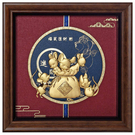 【福鼠進財】金鼠 純金箔畫....23 x23 cm
