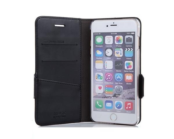 防電磁波手機皮套 X-SHELL 戀上iphone 6/6s 防電磁波皮套-精緻真皮拼接編織紋 尊爵黑