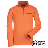 Polarstar 男吸排抗UV椰炭立領衫『橘』排汗│透氣│舒適│抗臭 P16259