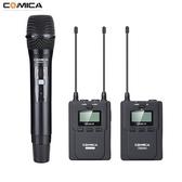 CVM-WM200B  COMICA WM200B 全指向領夾式金屬無線麥克風 (一領 一手持 一接收)【公司貨】