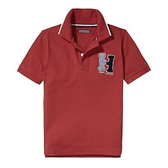 【Tommy Hilfiger 】 男生 Polo短袖上衣 (紅色)