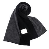 CalvinKlein 新款CK雙色浮雕LOGO圍巾(黑色)103217