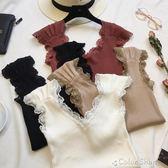 夏天鉤花鏤空蕾絲拼接吊帶背心女短款修身無袖上衣打底針織衫color shop