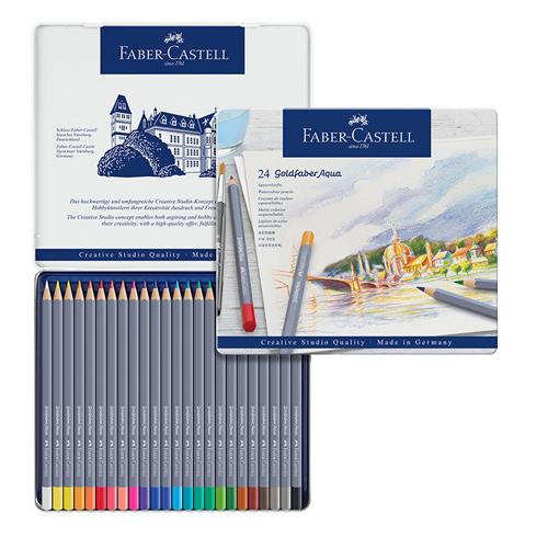 【FABER-CASTELL】輝柏 GOLDFABER水性色鉛筆 24色 / 盒 114624