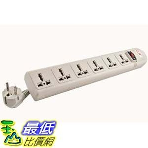 [美國直購 ShopUSA] 220V/240V AC 16A Universal Surge Protector / Power Strip with 6 Universal Outlets $1304