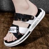 男士涼鞋 2020新款夏季涼鞋男士沙灘潮流運動室外涼拖外穿ins兩用開車拖鞋 JX2425『東京衣社』
