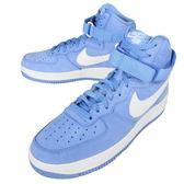【六折特賣】Nike 休閒鞋 Air Force 1 Hi Retro QS AF1 高筒 復古 北卡藍 白 男鞋 【PUMP306】 743546-400