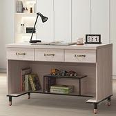 【水晶晶家具/傢俱首選】CX1451-6 鋼刷白121公分三抽書桌下座