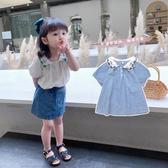 女童襯衫夏裝2020新款洋氣韓版兒童上衣小女孩短袖襯衣夏季刺繡潮