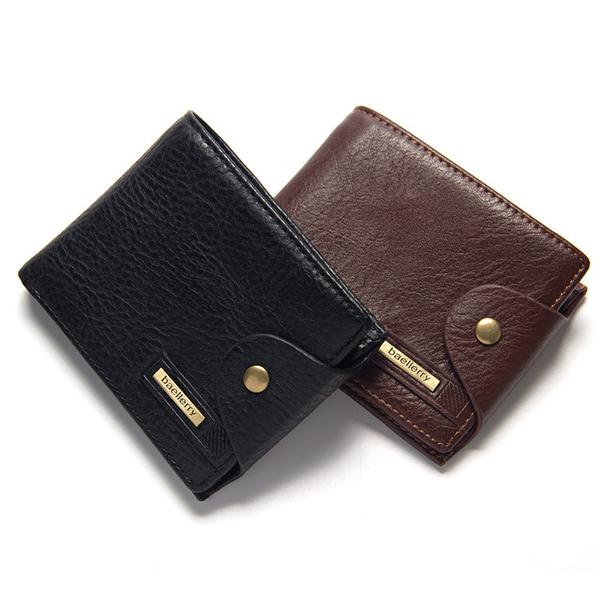 百搭男士短款短夾錢包 男生韓版3折短夾卡包 復古潮流日韓商務皮夾 簡約手包多卡位零錢包錢夾