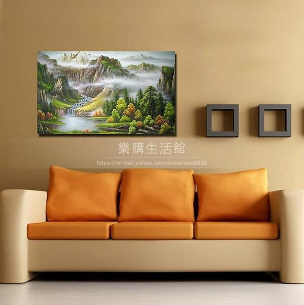 客廳裝飾壁畫/無框畫-山水畫【40*60*0.9單幅】LG-0381027