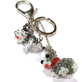 兩隻雪納瑞狗串珠包包掛飾鑰匙圈