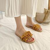 拖鞋新款夏沙灘涼拖鞋女外穿時尚學生百搭網紅少女心ins潮可濕水可卡衣櫃