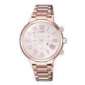 CITIZEN 星辰 XC系列 新上市鈦金屬玫瑰金三眼腕錶FB1334-62A