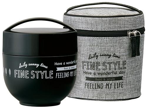 Fine style【日本代購】和式 保溫碗 保冷 二重真空 午餐盒800ml附提袋kldnc8