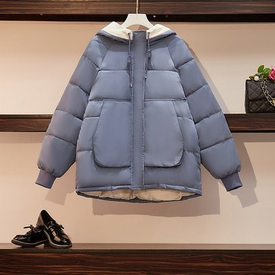 長袖上衣實拍XL-4XL中大尺碼新款棉服女冬季大碼韓版面包服棉襖寬松加厚棉衣外套9935R037.1號公館