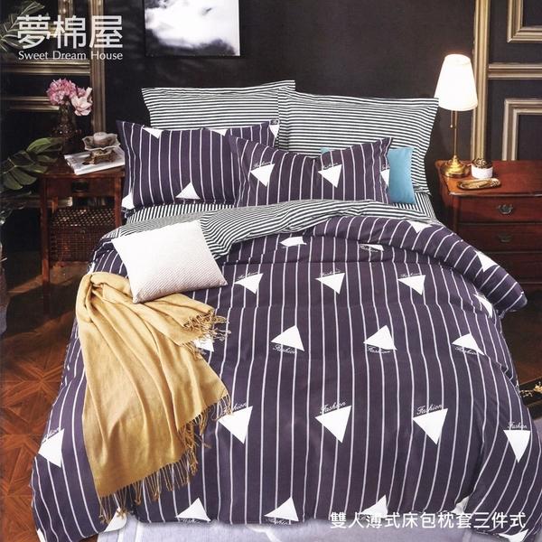 台製柔絲絨5尺標準雙人薄式床包枕套三件式-藝術生活-夢棉屋