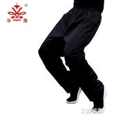 華海單雨褲騎行防水耐磨男成人女半身雨衣雨褲套裝雙層防水褲透氣『艾麗花園』