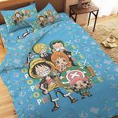 【享夢城堡】航海王 友誼之光系列-精梳棉單人床包兩用被組
