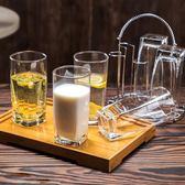 無鉛玻璃水杯 家用高身杯子 牛奶杯果汁杯 茶杯6只套裝七夕特惠下殺