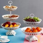 三層水果盤客廳歐式簡約塑料干果盤盆水果籃【雲木雜貨】