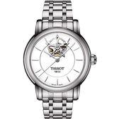 TISSOT 天梭 Lady Heart 花朵鏤空機械手錶-銀/35mm T0502071101104