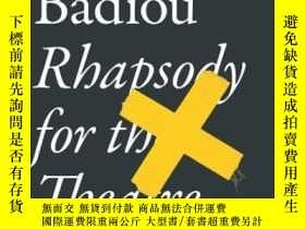 二手書博民逛書店Rhapsody罕見For The TheatreY364682 Alain Badiou Verso 出版